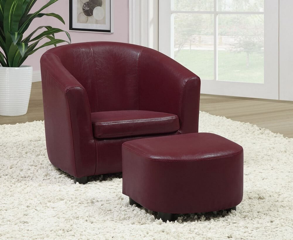 accent chair under 100 stronglite massage 10 attractive chairs 2019 this rich burgundy with matching ottoman is built for comfort and style
