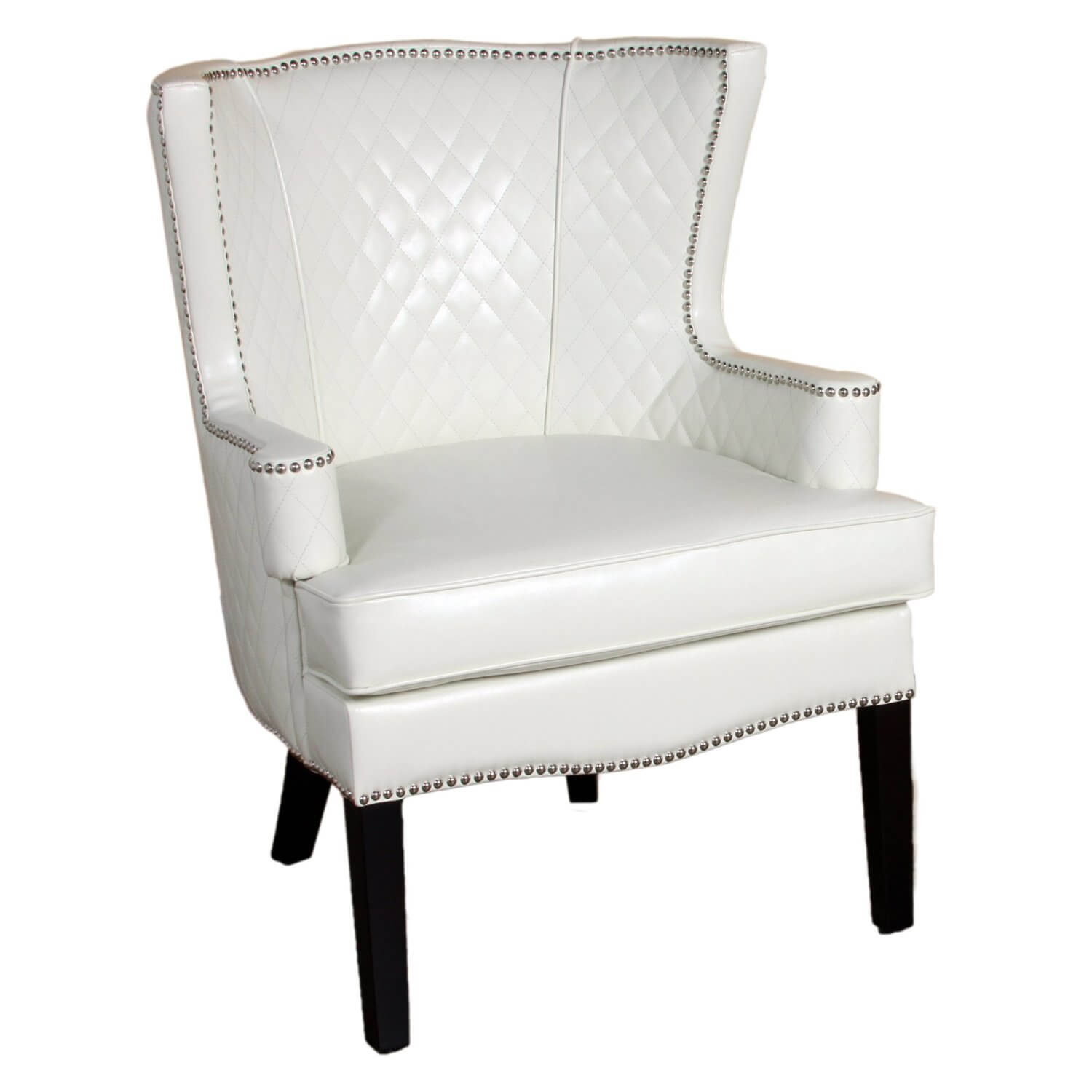 accent living room chairs with arms ebay barber 37 white modern for the another ivory toned chair this quilted leather seat by best features wide seating