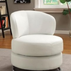 Modern Accent Chairs Swing Chair Leather 37 White For The Living Room This Wildon Home Features Swivel Action A Thick Padded Seat And Chrome