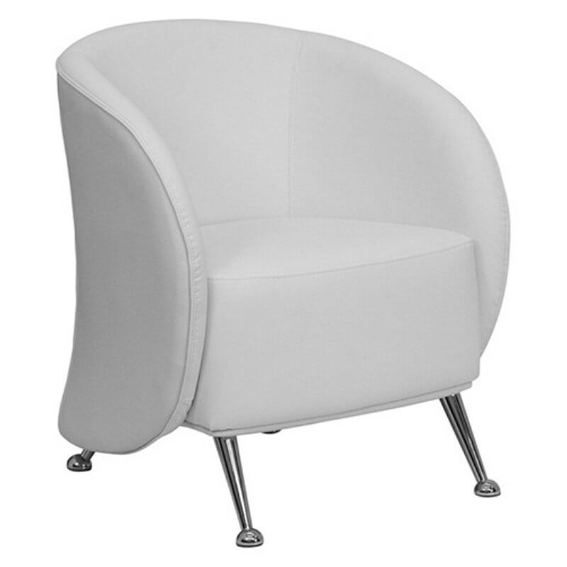 modern leather accent chairs rocking chair styles pictures 37 white for the living room this curved arm and back from flash furniture features chromed legs with half