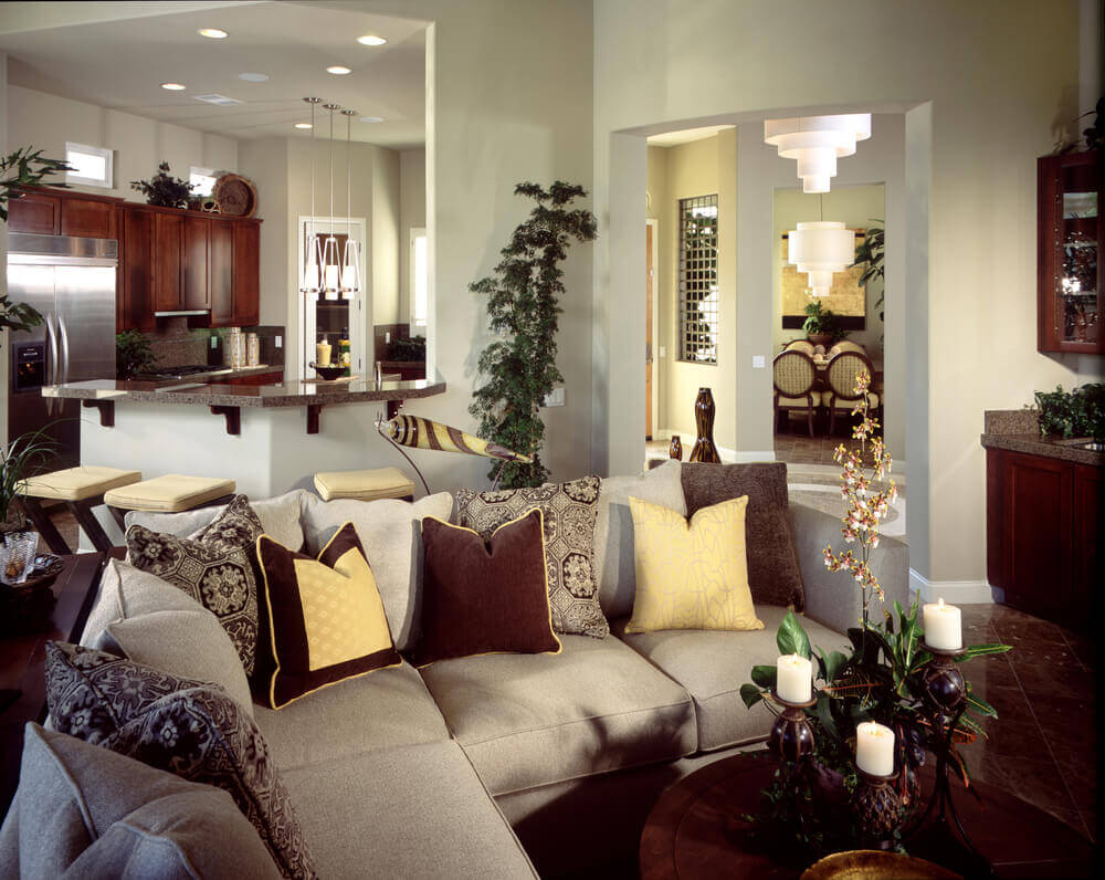 small living room with sectional sofa pictures of country themed rooms 27 elegant sectionals a decorated colorful pillows