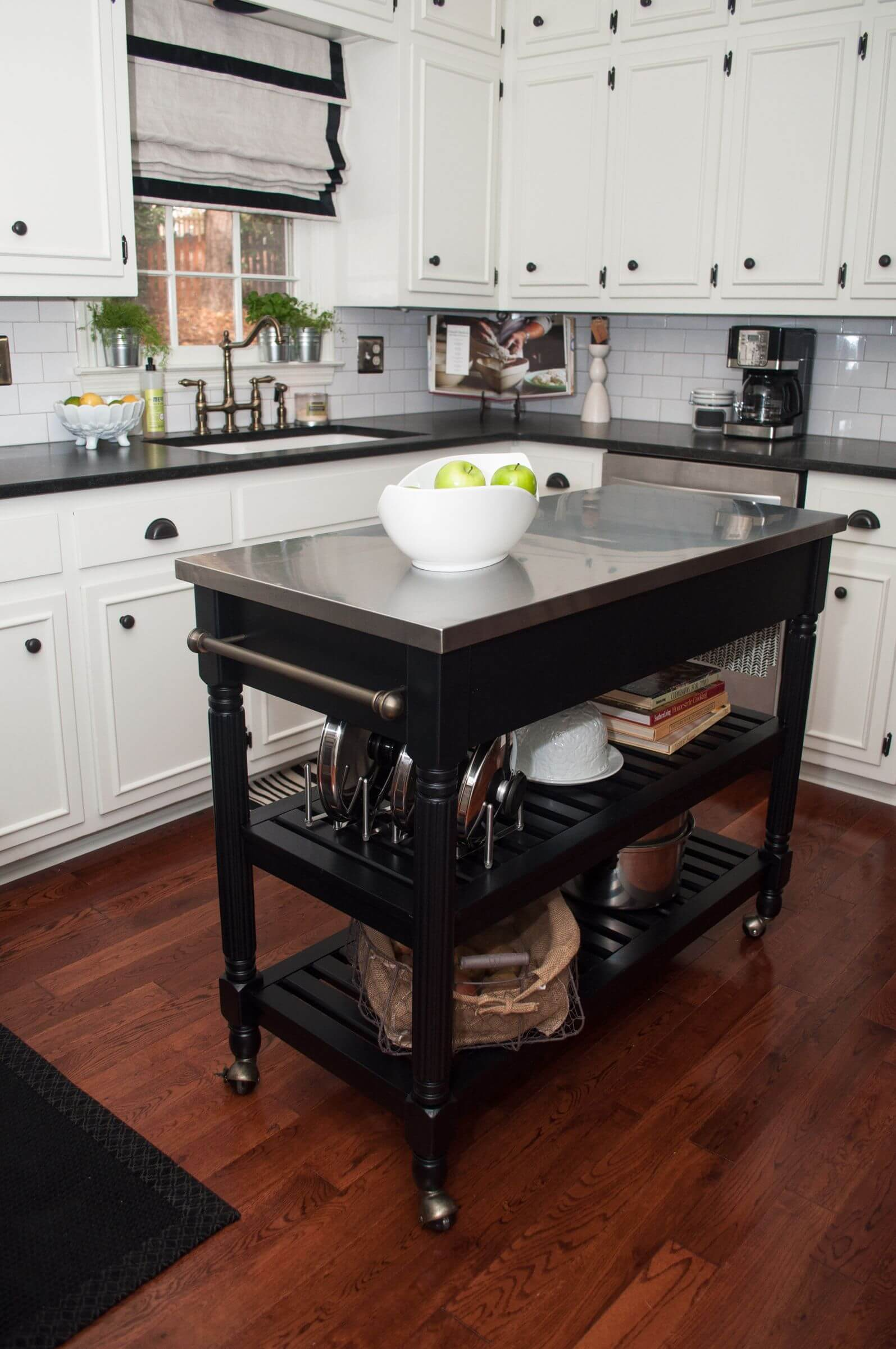 kitchen workbench garbage can 60 types of small islands carts on wheels 2019 white with dark portable island