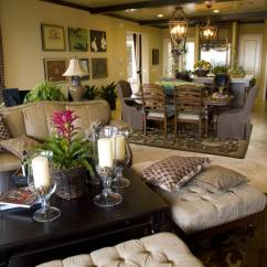Photos Of Living Rooms With Brown Leather Furniture Creative Room Ideas 50 Beautiful Ottoman Coffee Tables Lush Details Abound In This Open Shared Dining And Kitchen Space