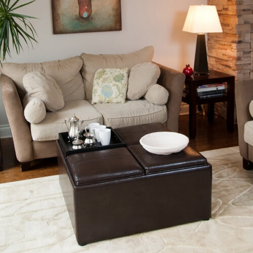 extra large sofa cushion covers sectional india 36 top brown leather ottoman coffee tables