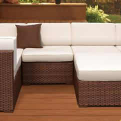 White Resin Wicker Sofa Diy Pallet Sectional Instructions 25 Awesome Modern Brown All-weather Outdoor Patio Sectionals