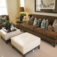 Living Room Ottoman Ideas Sleek Furniture 50 Beautiful Rooms With Coffee Tables Compact Dark Mocha Chair And Armless Sofa Contrasting White Single