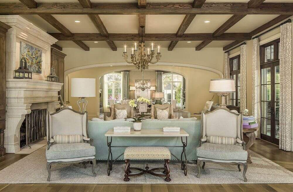 elegant living rooms with fireplaces room designs pictures black and white 36 that are richly furnished decorated dark exposed beams colossal marble fireplace stand over this featuring hardwood