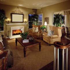 Living Room Design Ideas With Dark Furniture Small Interior Photo Gallery 36 Elegant Rooms That Are Richly Furnished Decorated This Features Twin Golden Rolled Arm Chairs Facing Brown Floral Sofa Over A Lush