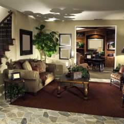 Elegant Living Room Design Led Lights 36 Rooms That Are Richly Furnished Decorated This Cozy Setup Stands Beneath The Carved Wood And Wrought Iron Stair Railing At