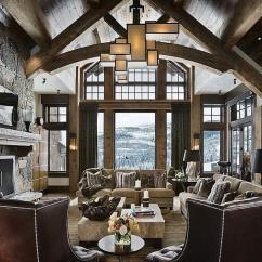 Rustic Elegant Living Room Designs Small Rooms With Hardwood Floors 36 That Are Richly Furnished Decorated Soaring Vaulted Ceiling Exposed Natural Wood Beams Frame This Luxurious