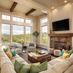 Elegant Living Room Design Blue Gray And Yellow 36 Rooms That Are Richly Furnished Decorated 112garrisonhullinger Americanspirit Livingroom1 Casual But Designed
