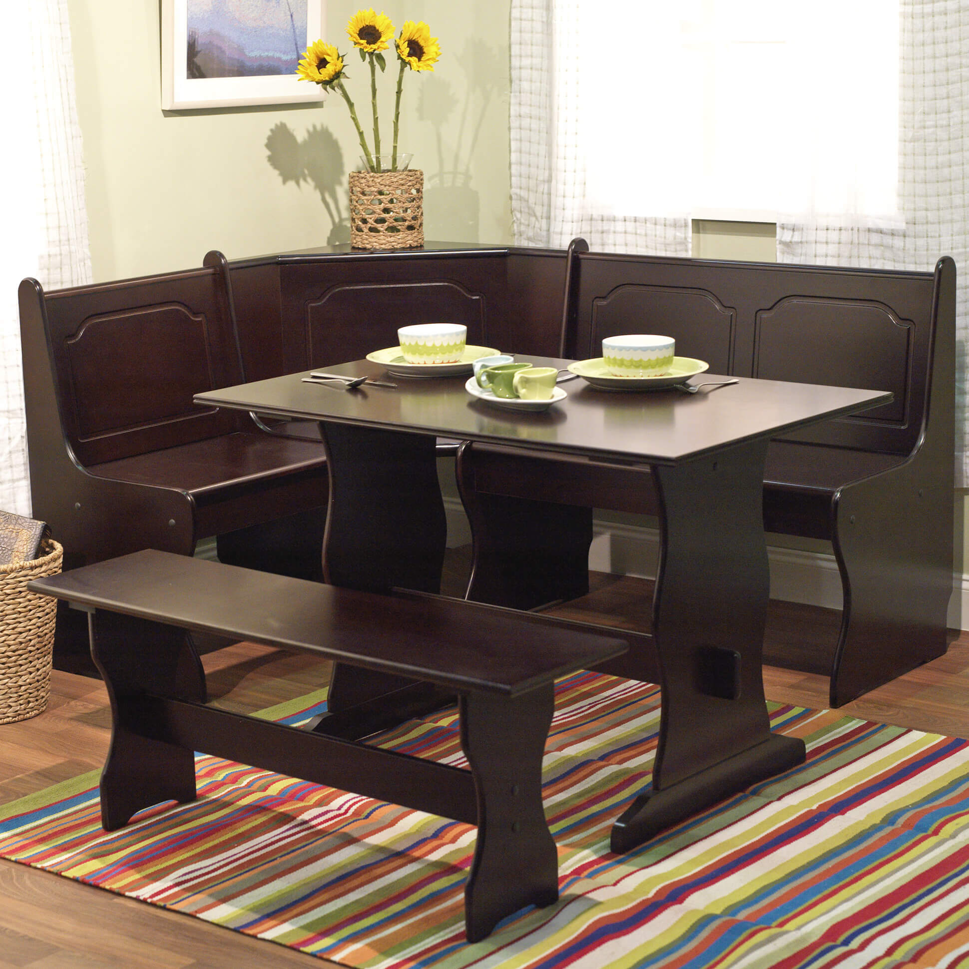 kitchen table nook rustic round wow 30 space saving corner breakfast furniture sets 2019 tms