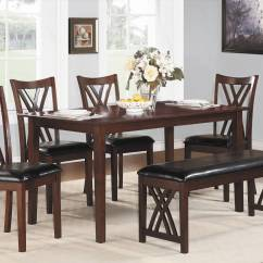 Dining Set With Bench And Chairs Chair Cover Ideas For Folding 26 Room Sets Big Small Seating 2019