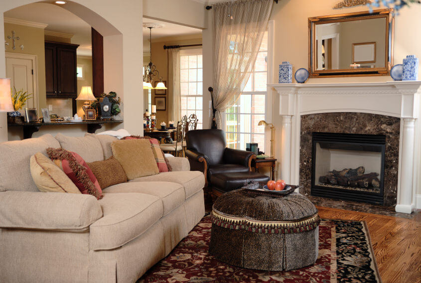 living room furniture layout with corner fireplace decorating ideas cheap 36 elegant rooms that are richly furnished & decorated