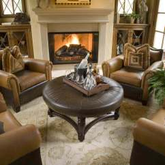 Decorated Living Rooms Images Top 10 Paint Colors For Room 36 Elegant That Are Richly Furnished This Is An Sitting With Large Comfy Armchairs Around A Circular Ottoman Table