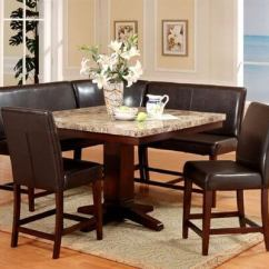 Breakfast Table And Chairs Set Grey Banquet Chair Covers Wow 30 Space Saving Corner Nook Furniture Sets 2019 Roundhill 6 Piece Espresso Dining