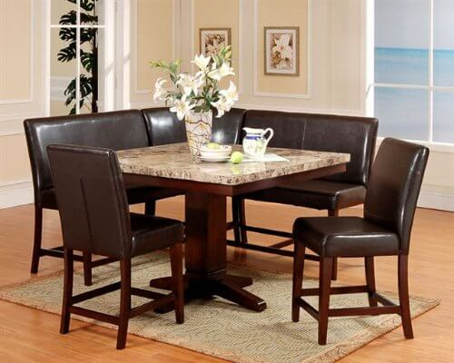 breakfast table and chairs set best posture chair support wow 30 space saving corner nook furniture sets 2019 roundhill 6 piece espresso dining