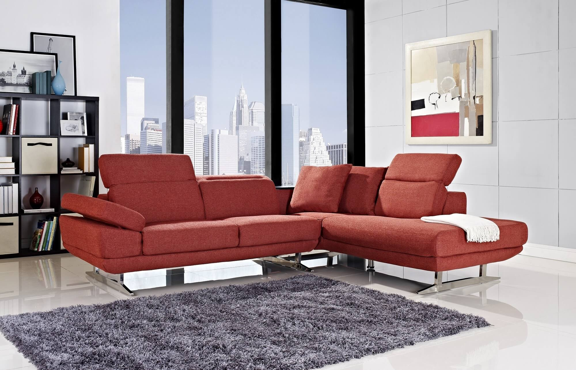 red modern sectional sofa leather made in usa 18 stylish sofas