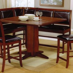 Kitchen Table And Chairs Set With Booth Hanging Patio Wow 30 Space Saving Corner Breakfast Nook Furniture Sets 2019 It S Important To Note That The This Is Counter Height Which A