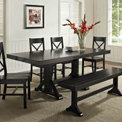 Kitchen Table Set With Bench King Cabinets 26 Dining Room Sets Big And Small Seating 2019 Here S A Great Cottage Style While It Dark Finish