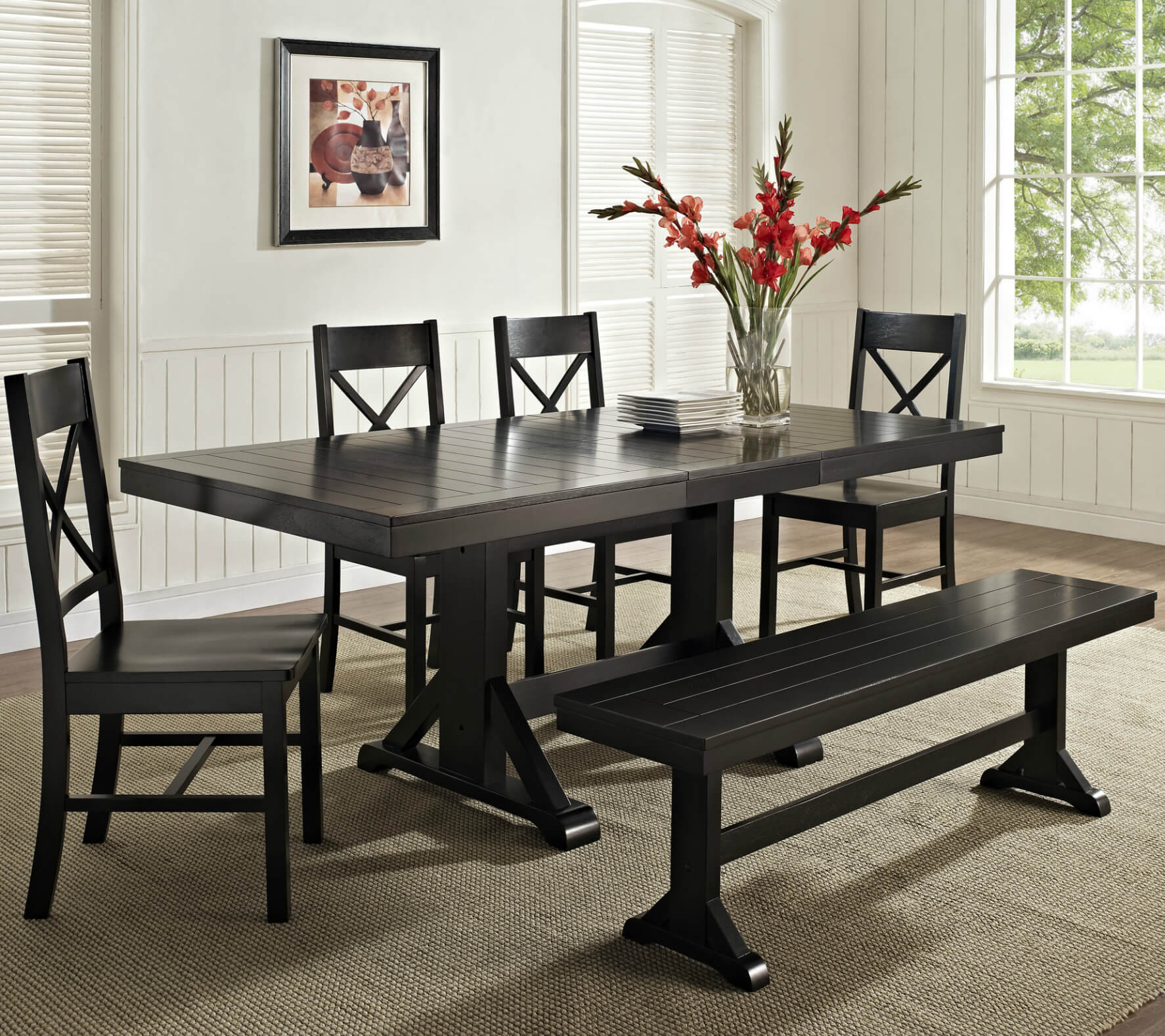 kitchen table set with bench cabinets makeover 26 dining room sets big and small seating 2019 here s a great cottage style while it dark finish