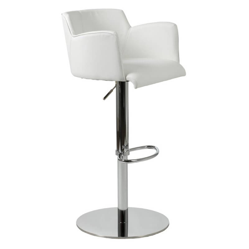 chair stool with back cover rental michigan 35 stylish modern adjustable white leather bar stools this pocket style offers decent seat support arms and