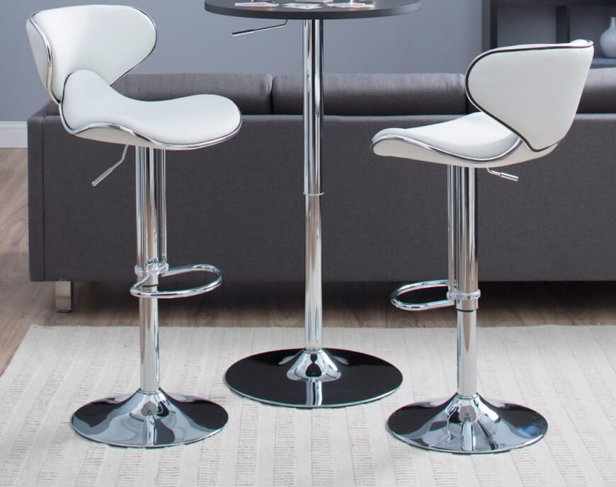 amazon kitchen bar stools cabinet door knobs 35 stylish modern adjustable white leather