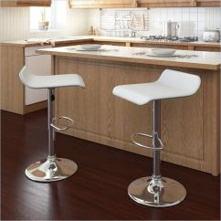 Countertop Stools Kitchen Table Counter Height 35 Stylish Modern Adjustable White Leather Bar Corliving Simple