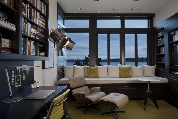 home office window bench 150 Luxury & Modern Home Office Design Ideas (Pictures)