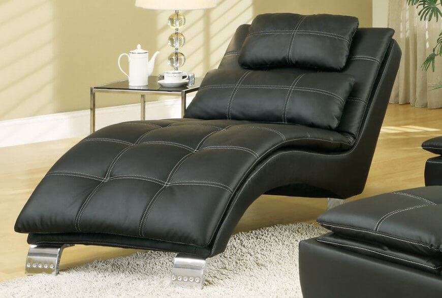 pictures of modern living room chairs indian small decorating ideas 20 top stylish and comfortable black leather chair jpg