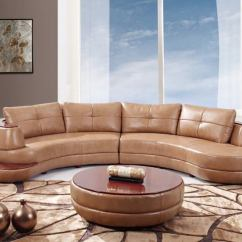 Circular Couches Living Room Furniture Paint Color 25 Contemporary Curved And Round Sectional Sofas This Two Piece Leather Features A Rounded Edge Shape With Rich Wood Plating On The Top Small Side Platform