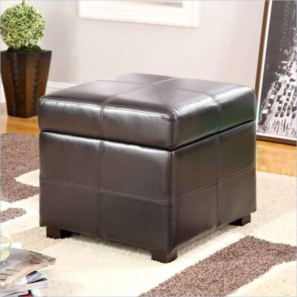 Brown Ottomans Under 100 Square Rectangle & Styles