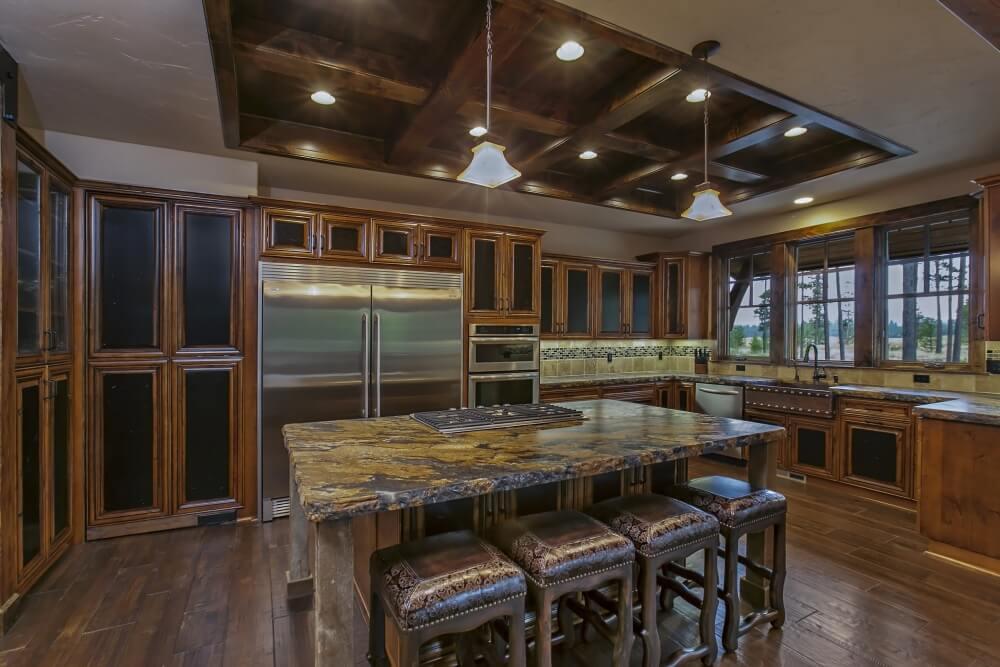 Kitchen Contemporary Rustic Studio Apartment