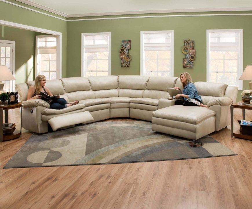 Rounded Sectional Sofa