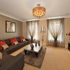 Colour Scheme For Living Room With Dark Brown Sofa Contemporary Design Photos 53 Rooms Curtains And Drapes Eclectic Variety Two Layers Of Sheer Provide Privacy But Still Let In Plenty Light