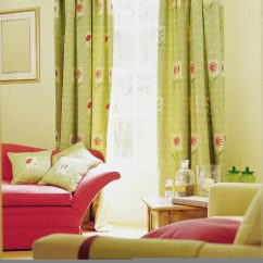 Green Curtains For Living Room Office Ideas 53 Rooms With And Drapes Eclectic Variety The Light Yet Bright Goes Beautifully Watermelon Pink Sofa Throw Pillows