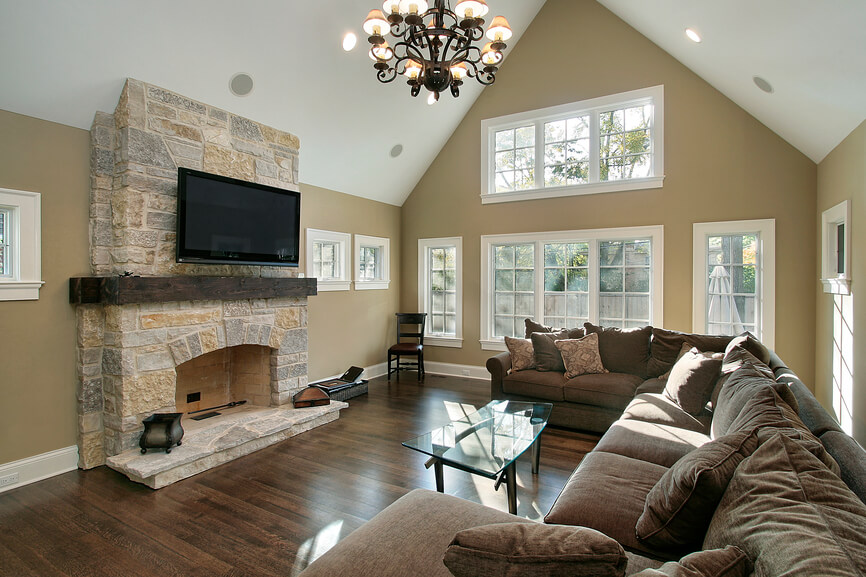 living room decorating ideas with stone fireplace red and gold 25 incredible a new construction home beautiful light wood burning large u