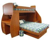free full size loft bed with desk plans | Quick ...