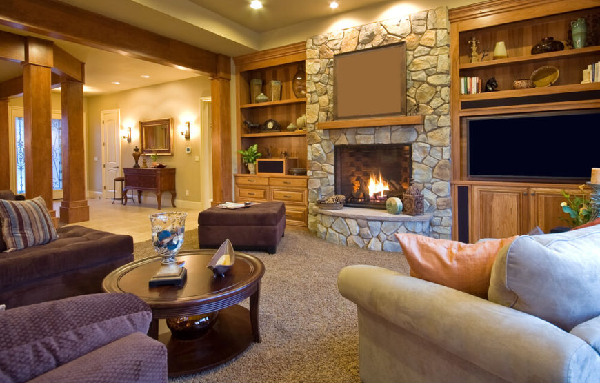 pictures of living rooms with stone fireplaces interior paint colors for room 25 incredible fireplace ideas built ins on either side this is the focal point