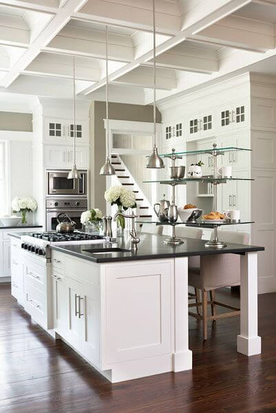 kitchen island with range drawer slides 25 spectacular islands a stove pictures this traditional but open design features high contrast between deep toned hardwood flooring and
