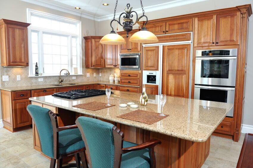 kitchen island with stove cabinets drawers 25 spectacular islands a pictures the expansive in this features light granite countertop plenty of dining space