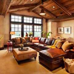 Living Room Designs With Leather Couches Indian Interior Design Pictures 22 Sophisticated Rooms Furniture When Matched An All Wood Rustic Arched Ceiling This Sectional A