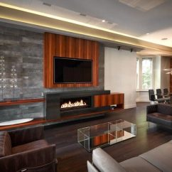 Pictures Of Living Rooms With Fireplaces And Tv Modern Room Art Ideas 49 Exuberant S Mounted Above Gorgeous This Has A Long Rectangular Fireplace Built Into The Entertainment Center