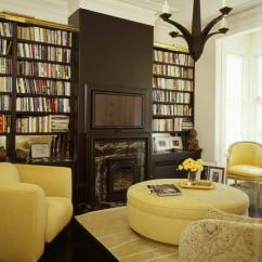 Yellow And Brown Living Room Decorating Ideas Gray Couch 25 Cozy Tips For Small Big Rooms If You Choose An Ottoman In A Warm Color Your Will Brighten The