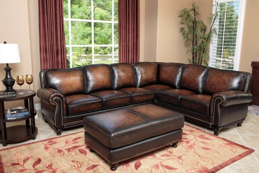 leather nailhead sofa set trim top 25 man cave sofas from around the web