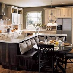 Kitchen Sink Island Tall Pull Out Cabinets 34 Fantastic Islands With Sinks A Lovely Country Featuring An L Shaped That Transitions Into Bench Seating