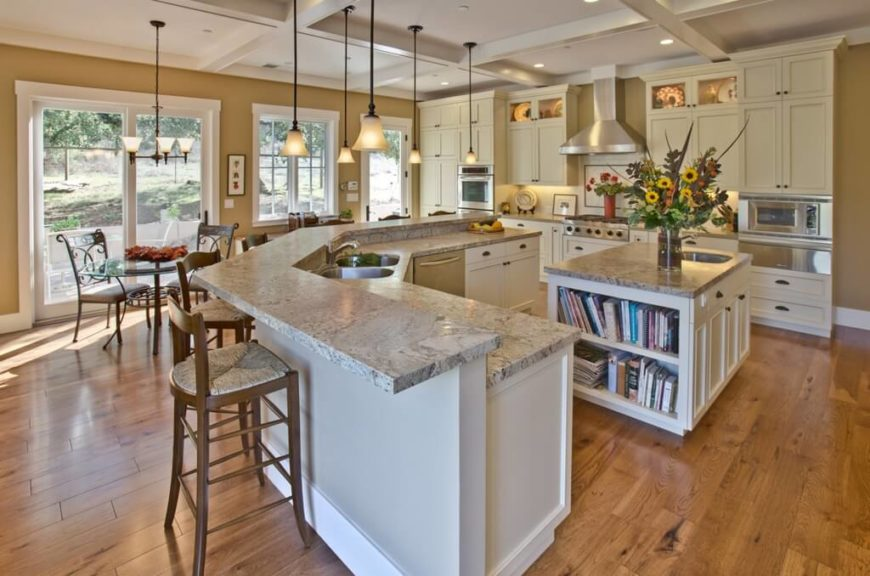 kitchen island with sink epoxy flooring 34 fantastic islands sinks an incredibly spacious featuring hardwood granite countertops and a small