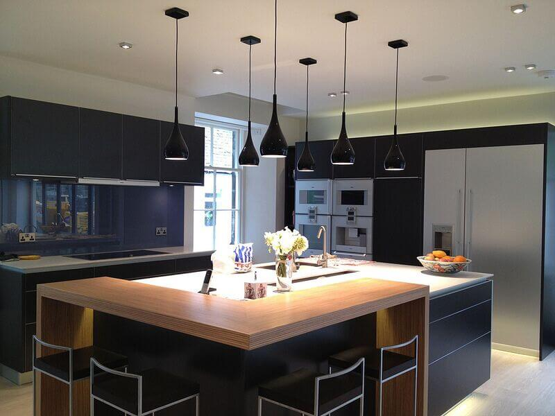 kitchen sink island corner nook table 34 fantastic islands with sinks dark pendant lights and a large