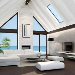 Modern White Furniture For Living Room Rooms Design Ideas 72 With Sofas And Chairs Beneath A Soaring Vaulted Ceiling We See Sleek Sectional Wrapping Around
