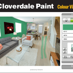 Paint Living Room Online Small Decor India The Best Free Virtual Color Software 6 Options Cloverdale Colour Visualizer